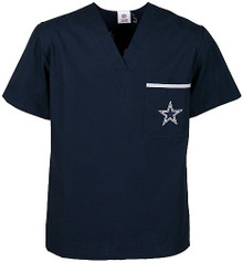 Dallas Cowboys V Neck NFL Scrub Top