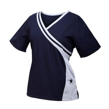 Dallas Cowboys Women's Two Tone Scrub Top