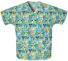 Dog Print Scrub Top Pet Shop Boys - Cherokee 4700