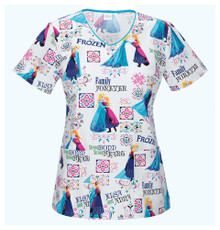 Frozen Women's Scrub Top