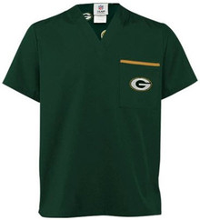 Green Bay Packers NFL V Neck Scrub Top