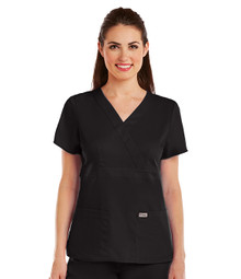Grey's Anatomy : 3 Pocket Mock Wrap Scrub Top for Women - 4153*