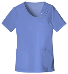 Cherokee LUXE : Crossover V Neck Pin Tuck Scrub Top For Women*