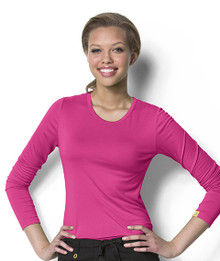 Wonder Wink Silky Long Sleeve Layering Scrub Tee*