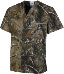 New Orleans Saints Real Tree Camo NFL Scrub Top