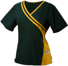 Green Bay Packers Women's Two Tone Scrub top