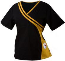 Pittsburgh Steelers Women's NFL Two Tone Scrub Top