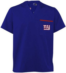 New York Giants NFL V Neck Scrub Top