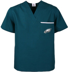 Philadelphia Eagles V Neck Scrub Top