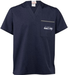 Seattle Seahawks V Neck NFL Scrub top
