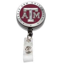 Texas A&M Retractable Badge Reel