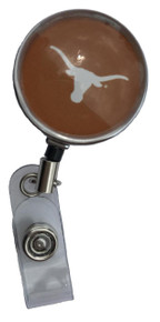 Texas Longhorns Orange Retractable Badge Reel