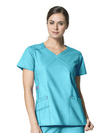 WonderWink WonderFLEX : Charity Y Neck Scrub Top For Women*