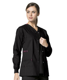 WonderWink WonderFLEX : Snap Front Scrub Jacket 8108  For Women*