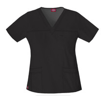 Dickies GenFlex : Womens 817455 Jr Fit V Neck Scrub Top*