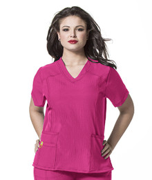 WonderWink PLUS : Curved V Neck Scrub Top For Women*