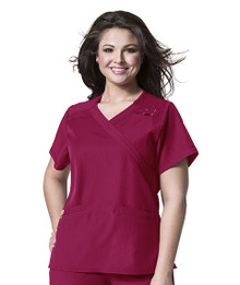 WonderWink PLUS :  Mock Wrap Scrub Top For Women*