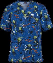 Star Wars Yoda V Neck Scrub Top