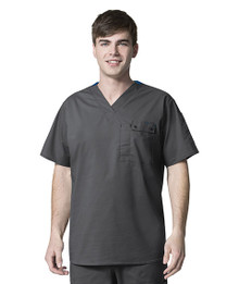 WonderWink WonderFLEX : Men's Utility V Neck Scrub Top 6618*