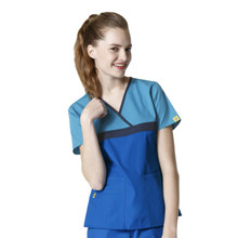 WonderWink Origins : Tri Charlie Mock Wrap Scrub Top For Women*