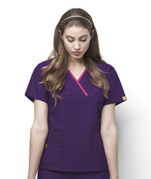 WonderWink Origins : The Charlie Mock Wrap Scrub Top For Women*
