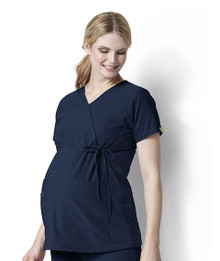 WonderWink Maternity Mock Wrap Scrub Top*