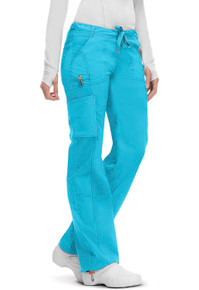 Code Happy Bliss: Antimicrobial Protection Low Rise Drawstring Cargo Scrub Pant*