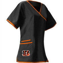 Seattle Bengals Women's Mock Wrap NFL Scrub Top