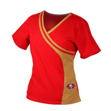San Francisco 49er's Women's Two Tone Scrub Topo