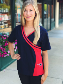 New England Patriots NEW Women's NFL Scrub Top