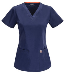 Code Happy Antimicrobial + Fluid Barrier 46607 V Neck Scrub Top for Women*
