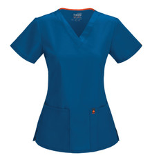Code Happy Bliss : Antimicrobial Protection V Neck Scrub Top*