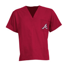 Atlanta Braves V Neck Scrub Top