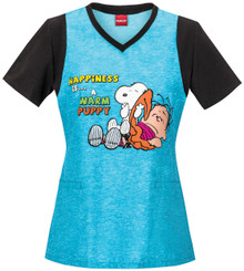 Charlie Brown, Peanuts scrub top for women.