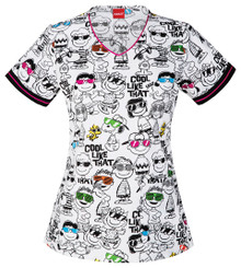 Peanuts Gang - Cool Like That Scrub Top For Women