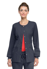 Code Happy Bliss : Antimicrobial Protection Snap Front Warm Up Jacket*