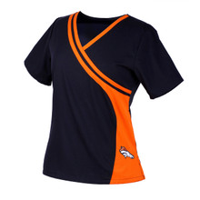 Denver Broncos NEW Women's NFL Scrub Top
