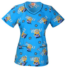 A Minion Scrub Top For Women