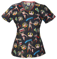 Wonder Woman Scrub Top For Women