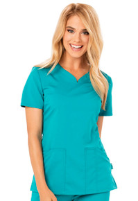 Code Happy Cloud Nine : Antimicrobial Protection V Neck Scrub Top For Women*