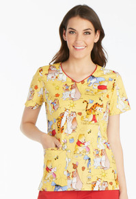 Winnie The Pooh Scrub Top For Women