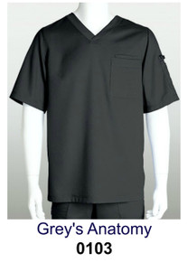 MENS : Solid Scrub Top (with VNS Logo Embroidery)