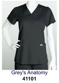 WOMENS : Mock Wrap Scrub Top