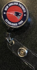 NFL New England Patriots Retractable Badge Reel
