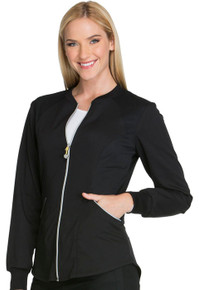 Cherokee LUXE Sport :Zip Front Warm-up Jacket  For Women*