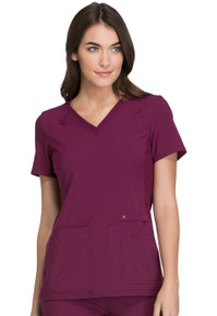 iFlex : V-Neck Knit Panel Scrub Top For Women*