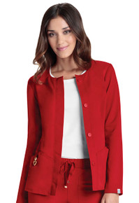 Heartsoul Head Over Heels Collection : Warm My Heart Antimicrobial Button Front Jacket - 20601A*