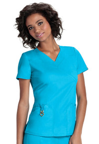 Heartsoul Head Over Heels Collection : Wrapped Up Antimicrobial V neck scrub top  - 20971A*