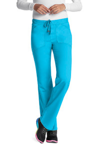 Heartsoul Head Over Heels Collection: Drawn To You Low Rise Antimicrobial Drawstring Scrub Pant For Women - 20102*