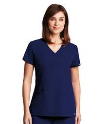 Grey's Anatomy Signature : Stretch 3 Pocket V Neck Scrub Top For Women*